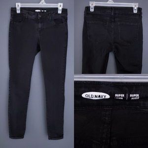 OLD NAVY Skinny Jeans Black Stretch Mid Rise 4P